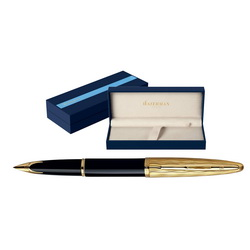 Ручка перьевая Waterman Carene Essential Black GT (корпус - латунь, позолота 23К)