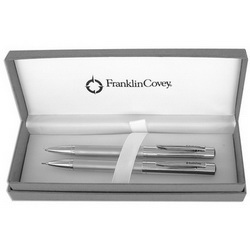 Набор FRANKLIN COVEY Greenwich Satin Chrome: ручка шариковая и карандаш, серебристый